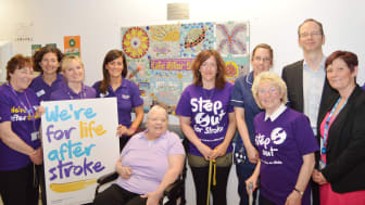 Mosaic unveiling kicks of Action on Stroke Month at Blackpool Victoria Hospital