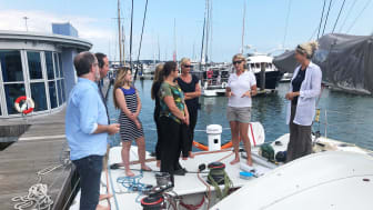 Pip shows the Saltwater team around Superbigou