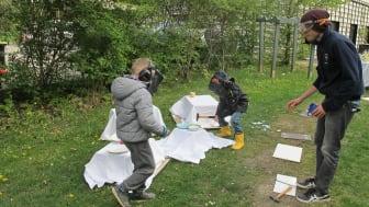 Geschwisterbegleitung im Kinderhospiz Bärenherz: Kinder begeistern sich für Hip-Hop-Projekt & Rage Room