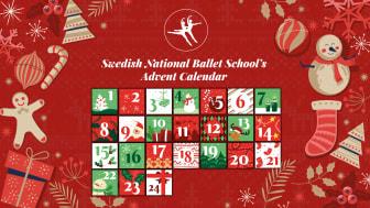 Varje dag från den 1- 24 december bjuder Svenska Balettskolan på lucköppning med dans i sin digitala adventskalender.
