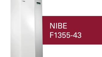 NIBE F1355-43 • RSK-nummer: 624 92 74 • Rekommenderat pris 159 000 exkl moms • CO2 - ekvivalent under 5 ton per kylkrets • Energimärkning A+++