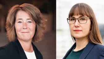 Johanna Frelin, vd Riksbyggen och Johanna Ode, bostadspolitisk expert, Riksbyggen. Foto: Evelina Carborn