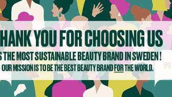 Sustainable Brand Index 2021 där The Body Shop utnämns till industrivinnare i Sverige och Danmark