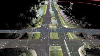 Exakt data för högre säkerhet. Audi varnar förare för halt väglag.