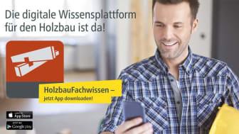 """Die App """"HolzbauFachwissen"""" ist optimiert für Tablets und Smartphones und auf bis zu drei Endgeräten je Zugang nutzbar."""