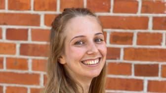 Lisa Kolfjord är community manager på Iron Gate Studio, företaget bakom Skövdes senaste spelsuccé. Foto: Lisa Kolfjord