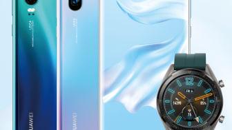 Huawei P30-serien med Watch GT på köpet