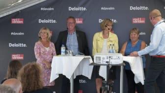 I panelen deltog Lena Wetterskog Sjöstedt, chef Kansliet för hållbar utveckling, Malmö stad, Peter Kärnström, kommunstyrelsens ordförande i Sandviken, samt Kerstin Blom Bokliden och Ingrid Petersson, samordnare resp ordförande Agenda 2030-delegati