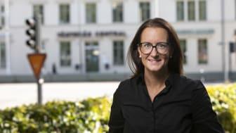 Sanna Edling vid Västerås centralstation