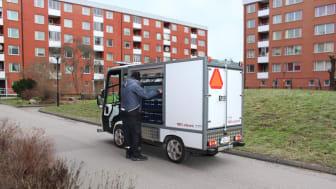 Hans Lange från Huge Bostäder med sin PRO Litium 3800 Van