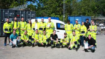 BILD: ONE Nordics mätarmontörer som kommer utföra elmätarbytet i Älvsjö för Ellevio..