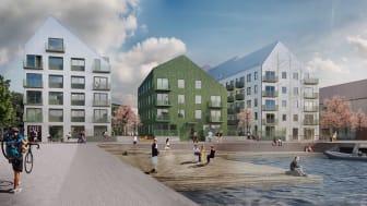 I nya Västeråsstadsdelen Öster Mälarstrand har ett unikt flerbostadshus uppförts