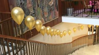 I samband med föreställningen Dödsdansen gjorde vi Halmstads Teater lite festligare för att markera 65 upplevelserika år.