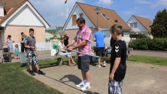 Invigning av hoppkudde hos Brf Fiskekroken i Halmstad