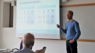 Daniel Björkman describes the selling process in Sweden. Photo: Sigma Technology.