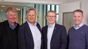 Mats Nilstoft ägare Laitis, Håkan Knutsson ägare KGK, Johan Regefalk, vd KGK och Martin Öhman, vd Laitis.