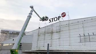 Sveriges nya mäss-, event- och mötesplats Scandinavian XPO växer fram i den gamla Eurostop-byggnaden invid E4:an i Arlandastad.