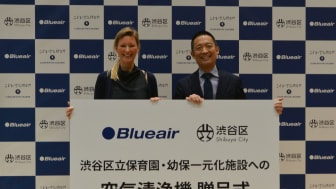 Sara Alsén, Chief Purpose Officer, Blueair and Ken Hasebe, Mayor of Shibuya