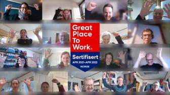 FORUT sertifisert som Great Place to Work