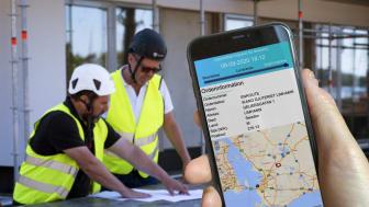 Med det nya Track & Tracesystemet får kunderna möjlighet att i realtid ta emot information via SMS om var sina leveranser befinner sig och när den beräknas ankomma till bygget.