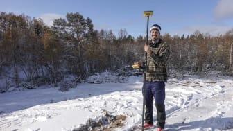 Utbildningen genomfördes av Erik Melin Söderström, längdskidåkaren som också har en masterexamen i klimatförändringar från studier i Alaska och Köpenhamn. Fotograf: Gabriella Edebo
