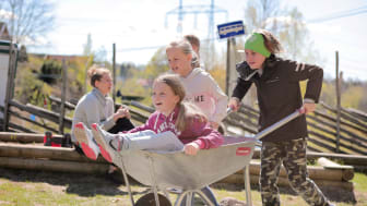 Etablering av Nordby skolehage Foto: Birgitta Eva Hollander