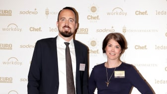 John Cedergårdh and Jessica Nordlander at the Chefsgala March 19th April