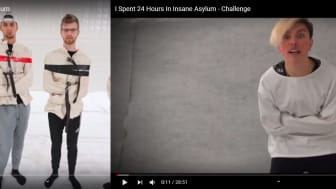 Screen shots of the two videos in question