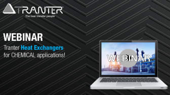 Tranter Webinar: Heat Exchangers in the Chemical Industry
