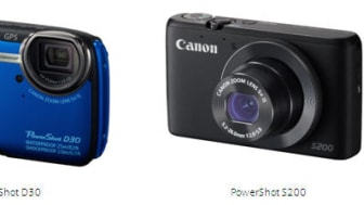 Dyk djupare in i fotovärlden med Canons robusta PowerShot D30 och fickformatskameran PowerShot S200