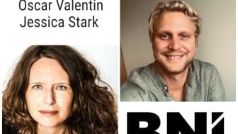 Oscar Valentin och Jessica Stark, ansvariga utbildare för BNI:s starterutbildning