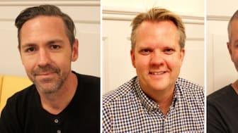 Björn Eremo, Christian Kokvik och Jesper Hugosson. Foto: Lotta Persdotter