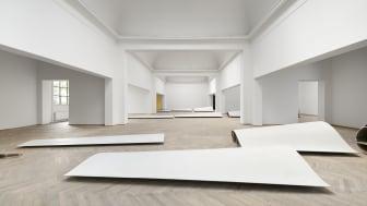 Lea Porsager, G.O.D. [GENERATOR.ORGANIZER.DESTROYER], 2020. Installation view, STRIPPED, Kunsthal Charlottenborg, 2021. Photo by David Stjernholm. Courtesy Lea Porsager.