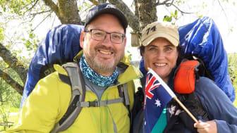 Michelle och Mark Ryan kommer från Australien och vandrar just nu S:t Olavsleden.