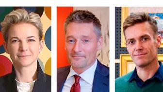 Alexa Bruun Rasmussen, salgsdirektør Kasper Nielsen og vurderingschef i Aarhus Peter Beck.