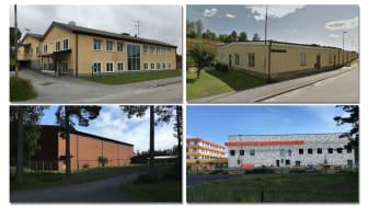 Banvägen 28, Sandströms, Stadsskogsskolan och Lindbackaskolan i Lindesberg.