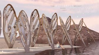 "ett av vinnande bidragen i arkitekturkatergorin ""The butterfly effect"""
