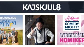 Sensommarkvällar på Kajskjul 8 med Arvingarna, Hilarious Stand-up: Andersson/Unge/Berggren och Quiz Pipistrello!