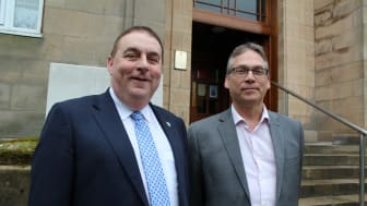 Convener of Moray Council and Equalities Champion, Cllr James Allan, and Equalities Officer Don Toonen
