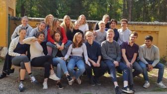 Billede af klasse på retræte // Foto: Niels Steeensens Gymnasium