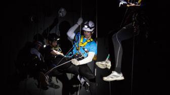 Speedclimbing i mörker