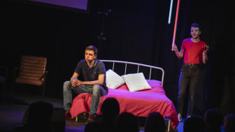 Northumbria graduates Jake Jarratt and Cameron Sharp, who are performing at this year's Elevator Festival