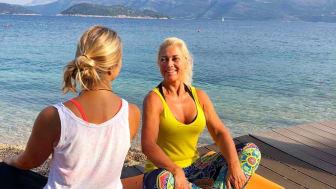 Meditasjon, glede og sol som varmer kropp og sjel