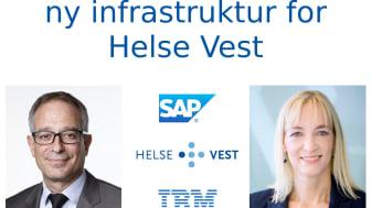 Stefano Holguin, leder av SAP i Norge og Anne-Sofie Risåsen, leder av IBM Global Business Services i Norge