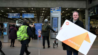 John Peck is the latest commuter to win back the value of his Key Smartcard season ticket - MORE IMAGES AVAILABLE TO DOWNLOAD BELOW
