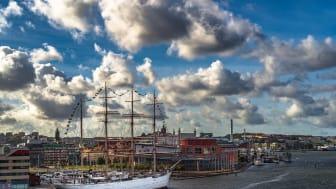 Göteborg ligger utsatt för höga havsvattenstånd i samband med stormar. Foto: Pixabay