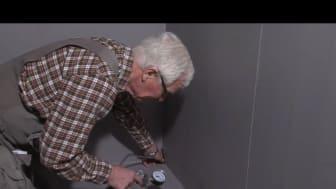 Kontroll av tätskikt i badrum på YouTube