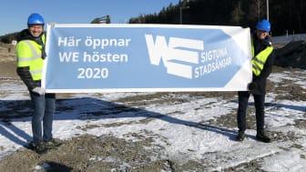 Jonas Eriksson och Niklas Wikegård öppnar träningsanläggning i Sigtuna stadsängar