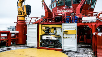 DBB ROV container ombord på ESVAGT C-skib.
