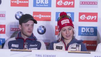 Tarjei og Tiril fra VM i Oslo i 2016. Foto: NordicFocus